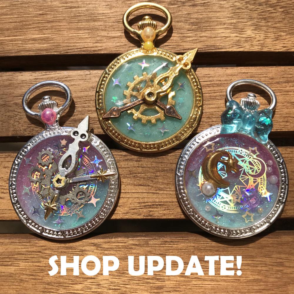 Shop Update! - Sparkly Pocket Watches