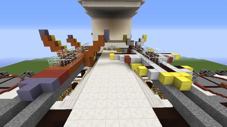 Forward Launch Rails(Minecraft)