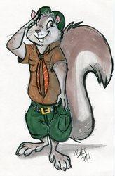 Aldin as a Squirrel Scout