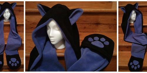 Fleece Cat scoodie