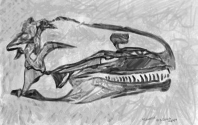 Dinovember - 6 - Allosaurus Fossil