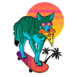 Vaporwave Coyote