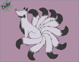 Inktober day 7- Kitsune