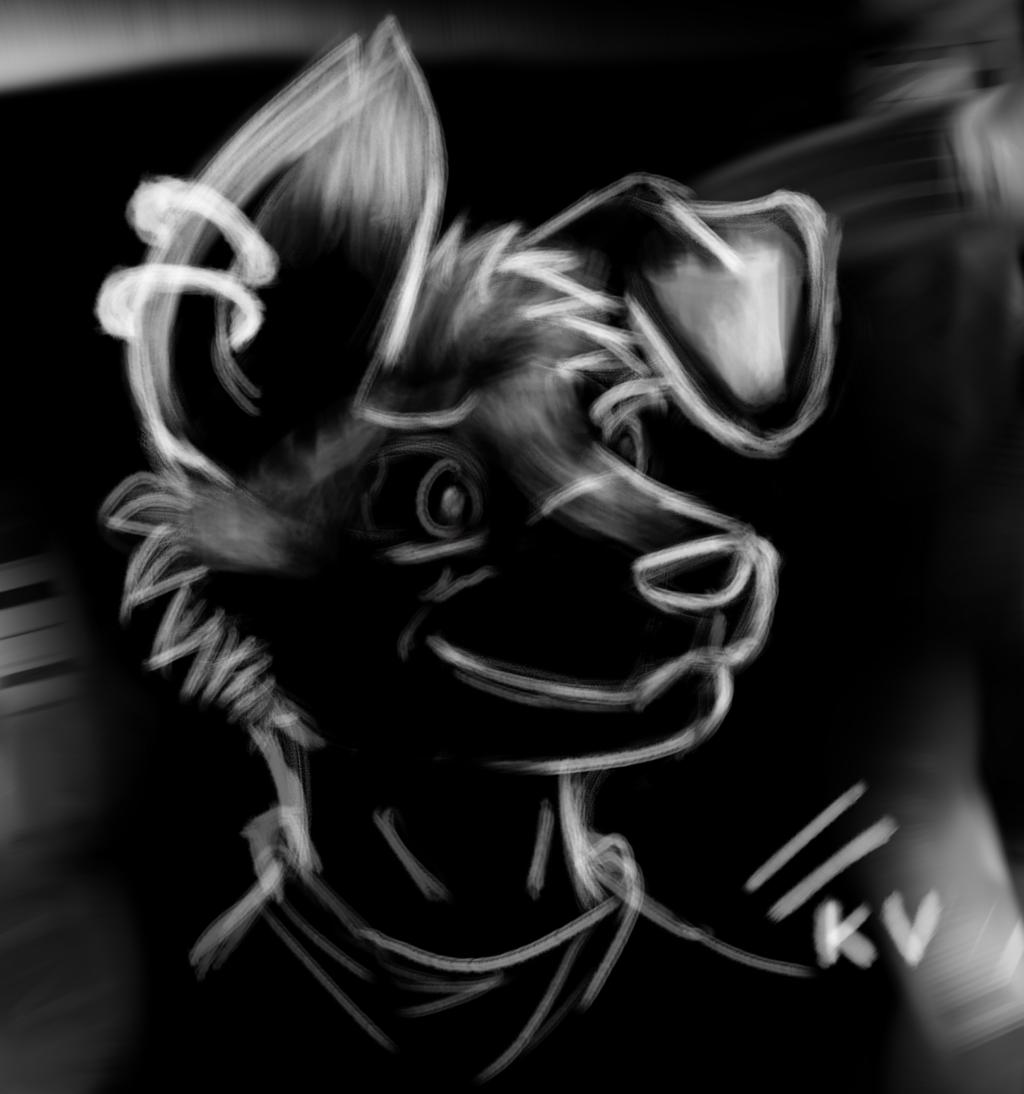 Chalk dog