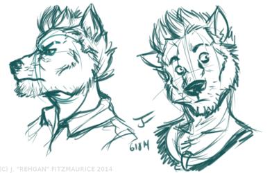 Wolf!Dean Headshots