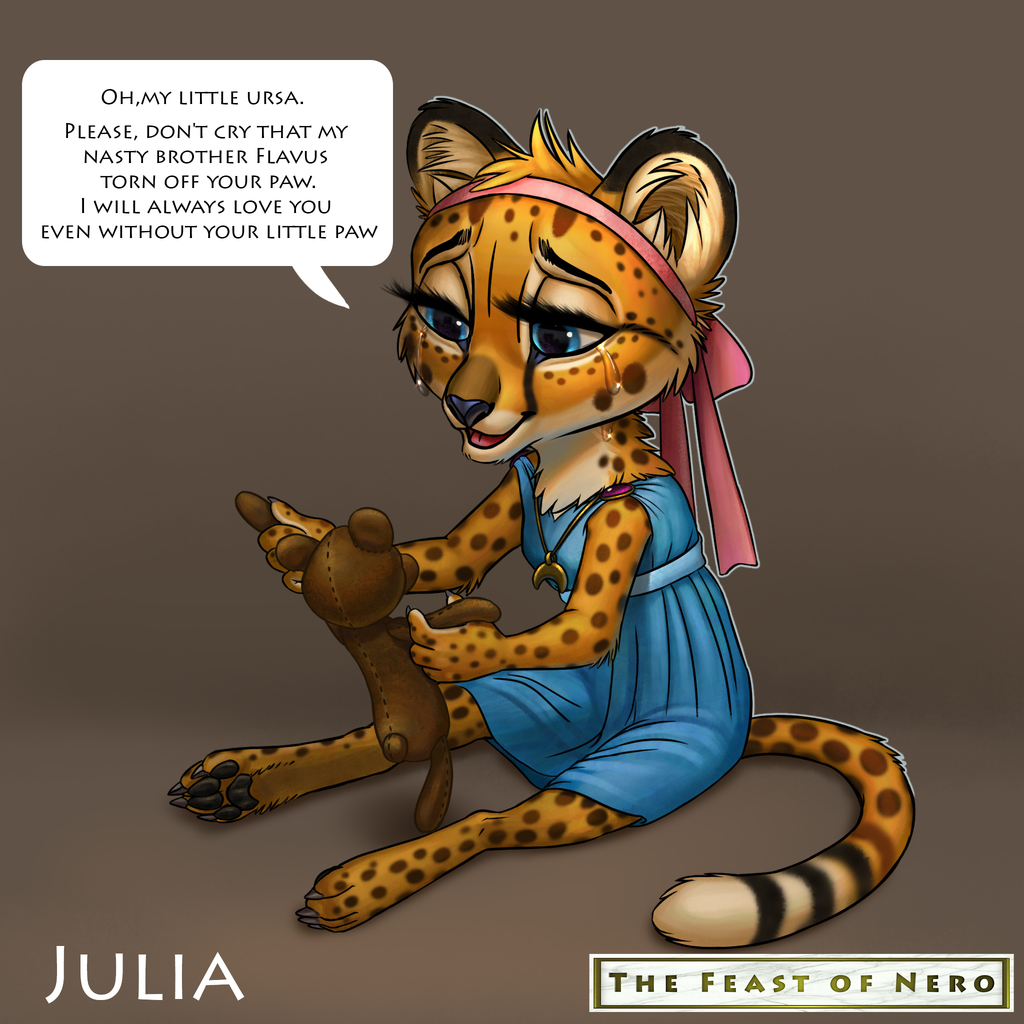Julia and her toy