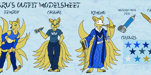 Mikaru's Outfit Modelsheet