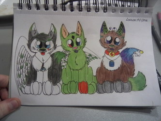 Nax Emmie and Reskell chibi's