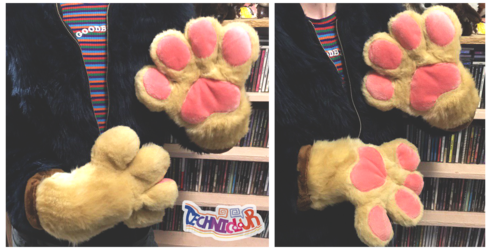 (FOR SALE) Tan Fursuit Handpaws With Pink Pawpads