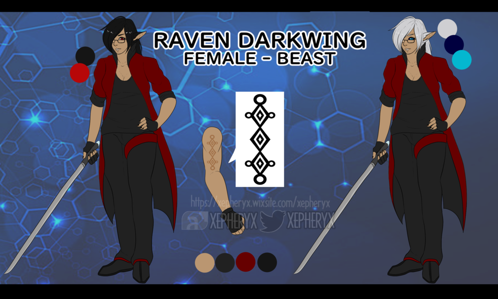 Most recent image: [2019] Raven Darkwing Reference