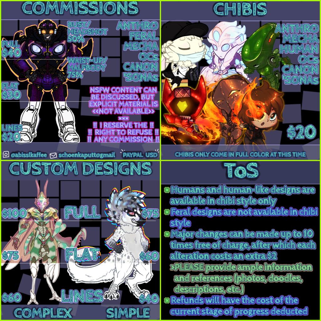Featured image: COMMISSIONS