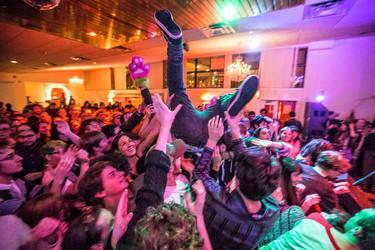 Crowd surfing at the Alex G/Teen Suicide show! (Cuisine En Locale, 2/6/15)