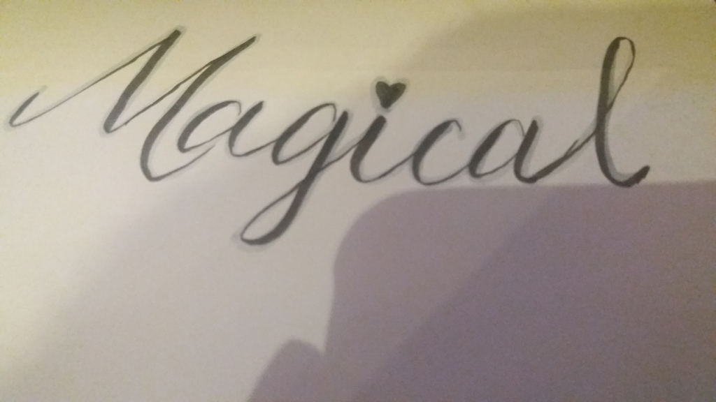 Most recent image: so my gf said I needed more calligraphy magic