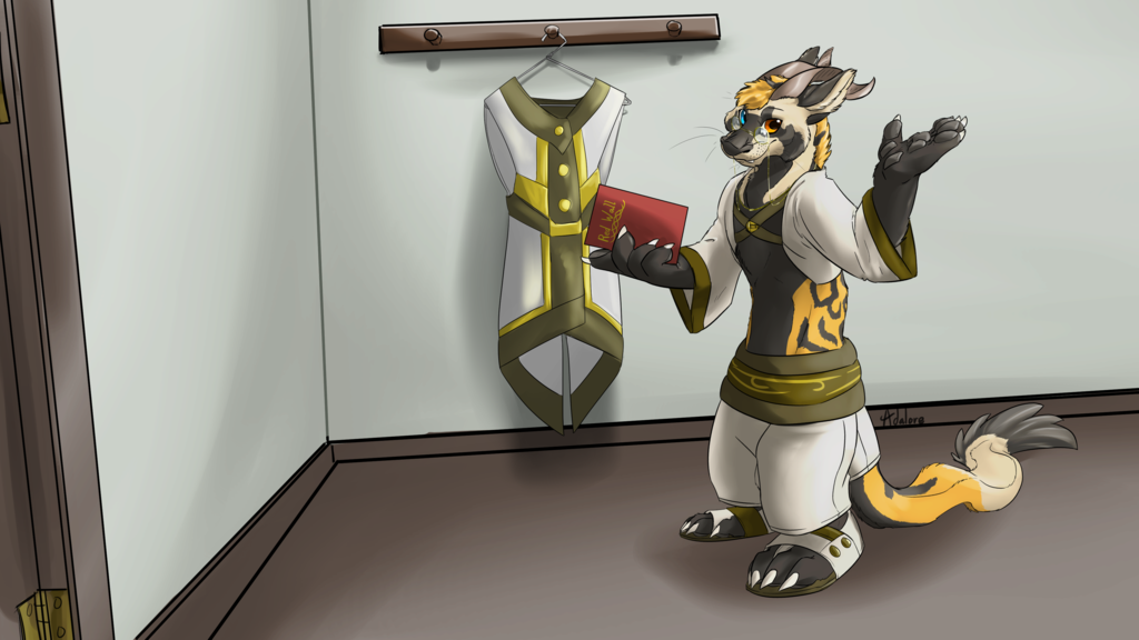 Commission - BaxsterQuinn - Quill the Archivist