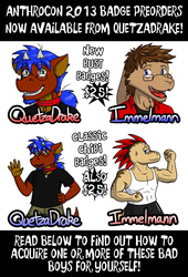 Anthrocon 2013 Badge Preorders Now Available!!