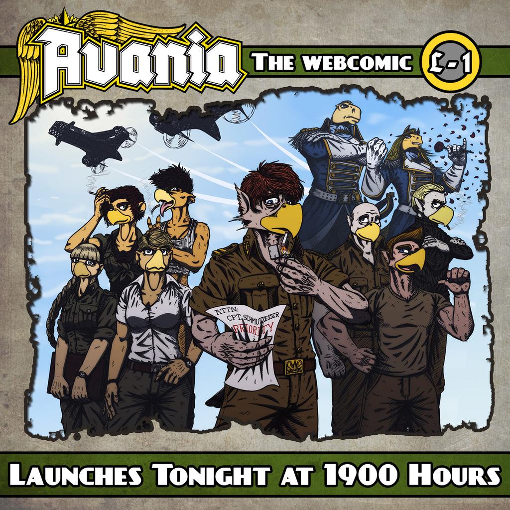 Avania Webcomic Launching TONIGHT