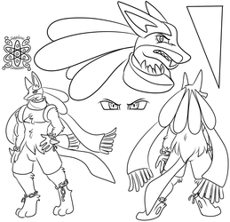 Void +Lucario Ref Commission WIP+