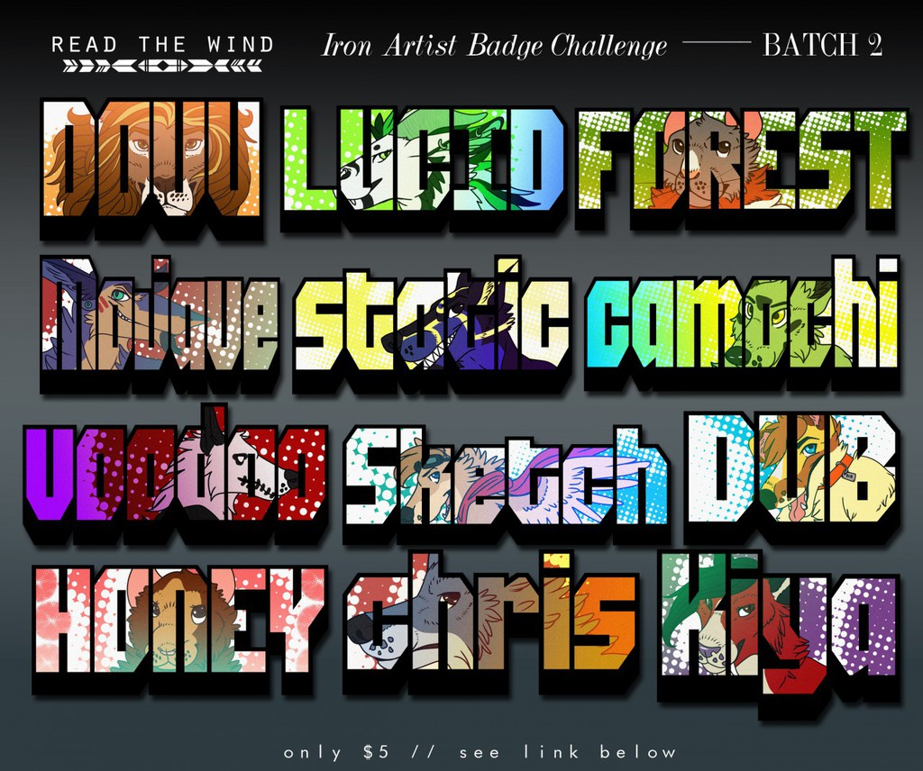 Summer Iron Artist Badges -- BATCH 2