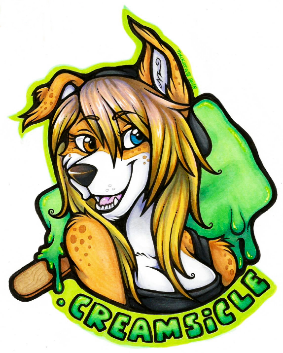Creamsicle Badge (Commission)