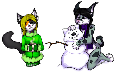 """Hot Chocolate & Snowmen"" (Art Trade)"