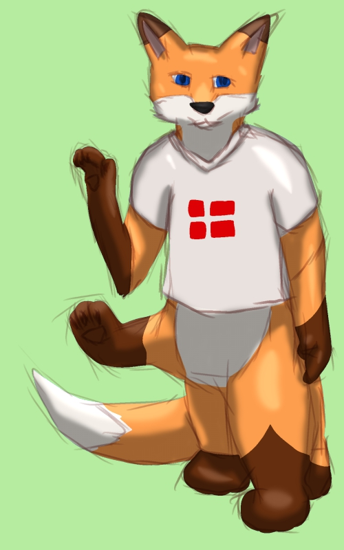 Silly double waving Taur Mike :3