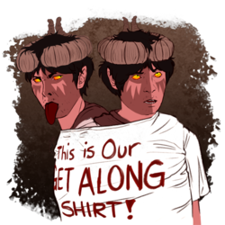 This is Our GET ALONG SHIRT!