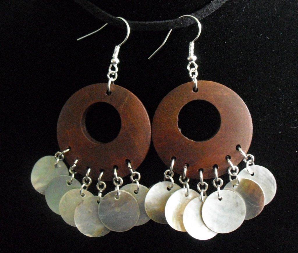 Shell Fan Earrings