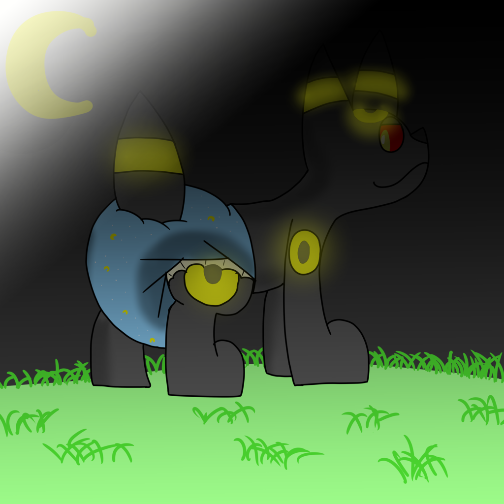 umbreon in the night