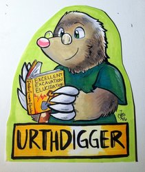 Urthdigger reads a book about E3!