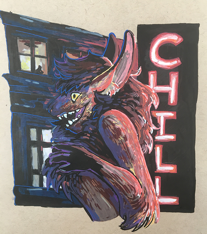 Most recent image: Posca bust for Chill