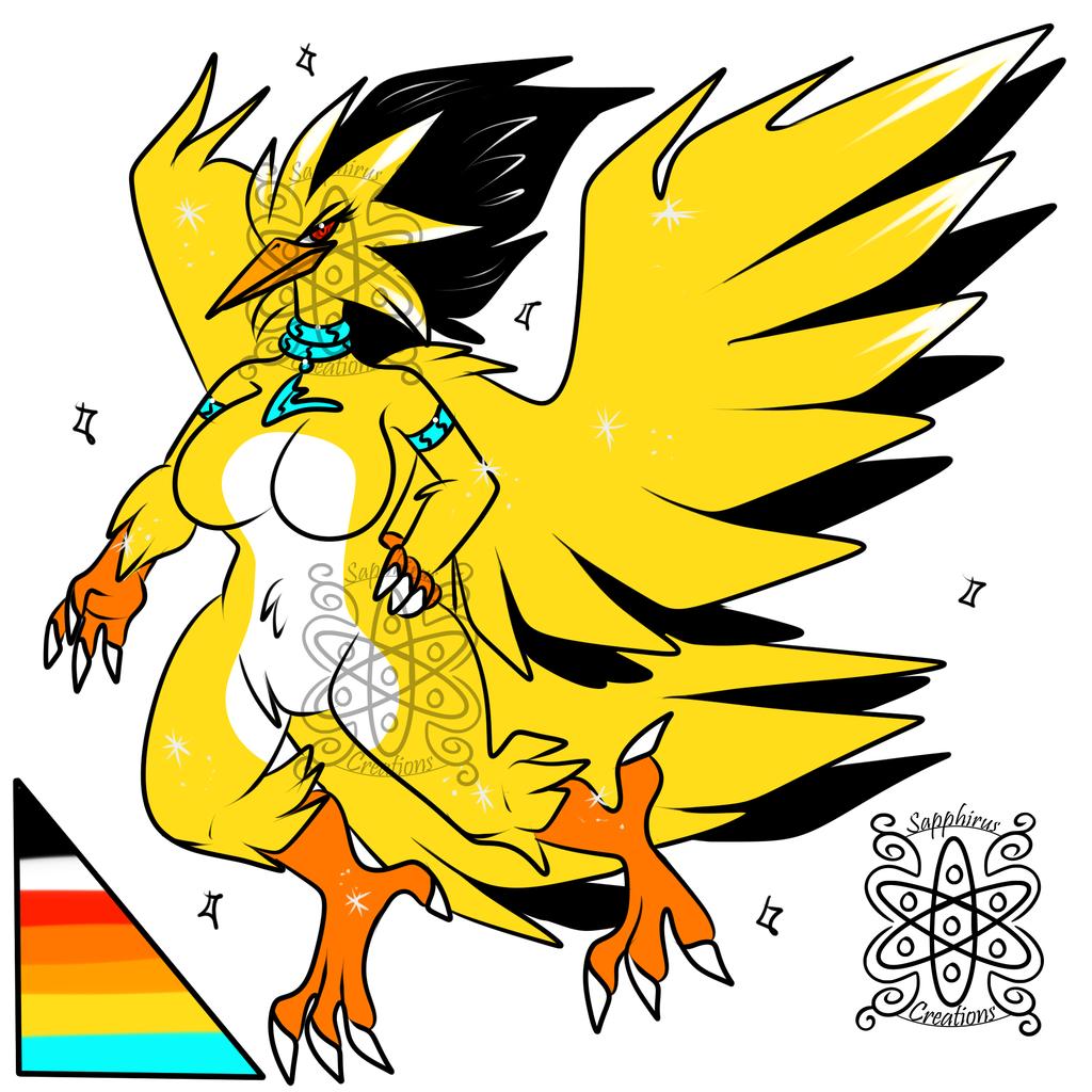 Female Shiny Zapdos +Design+ (SOLD)