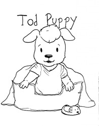 Tod Puppy in Kipper The Dog Style (July 2016)
