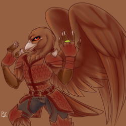 Commission: Tengu sketch