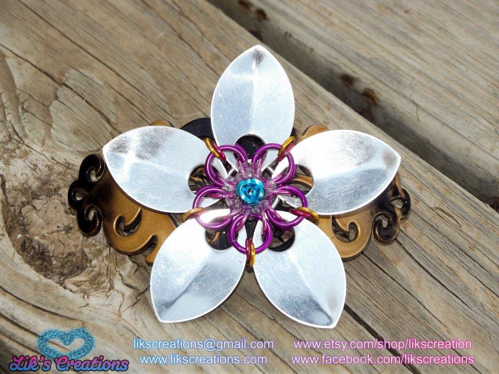 Large Flower Barrette/Hair Clip