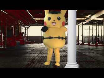Mascot Fursuiting Video: Ace Spade the Pikachu's Workout Routine