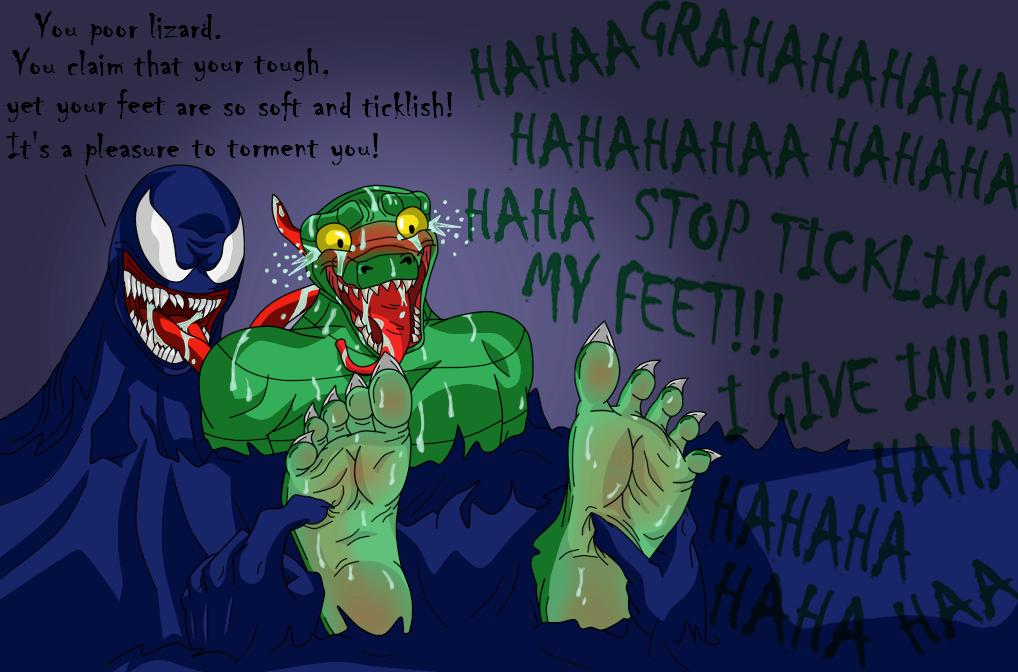 Venom humiliates Lizard