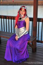 Starfire Formal Gown Cosplay In the Gazebo