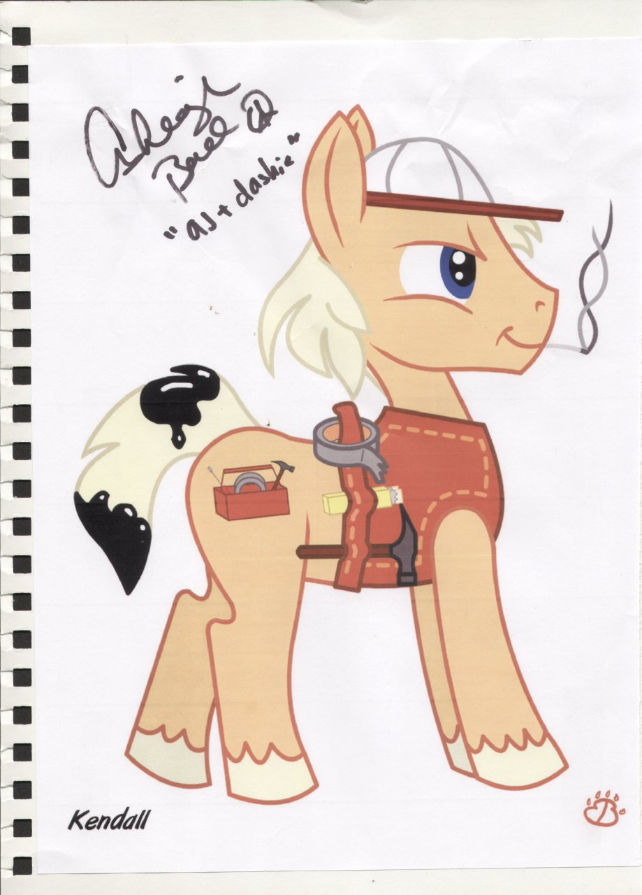 Autographed Handy Hooves pic by Ashleigh Ball