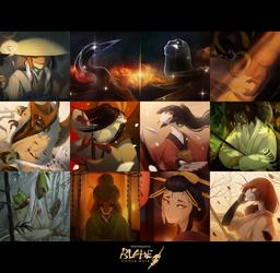 Blade Under Mask Poster I