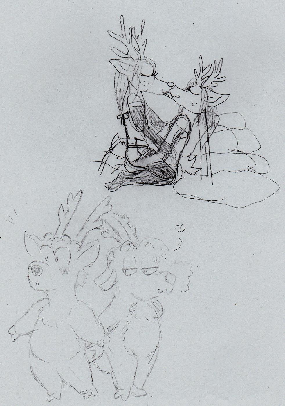 Most recent image: Gay Reindeer doodles