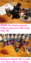 PAINTING TEENY THINGS - A REALLY ROUGH TUTORIAL