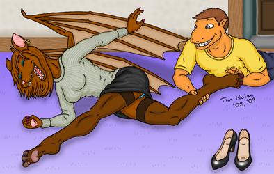 Tickling Kylina