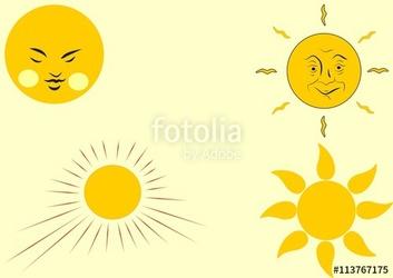 Sun clipart vintage vector