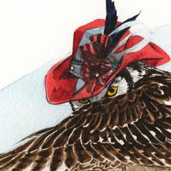 Strange Hawk Owl