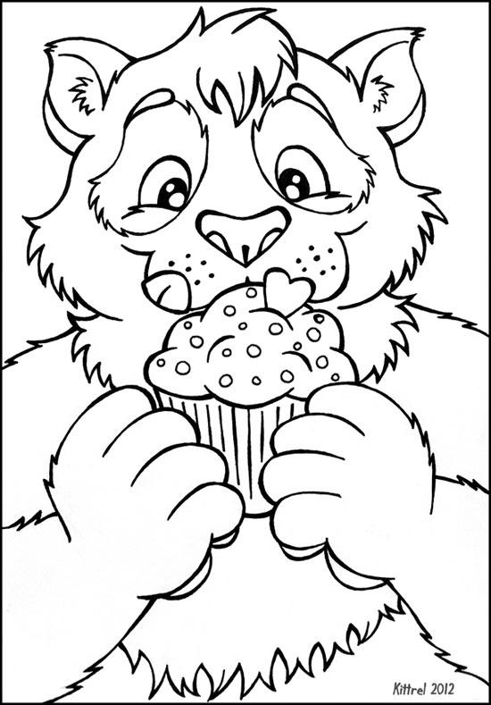 Mmm, Cupcake - lineart