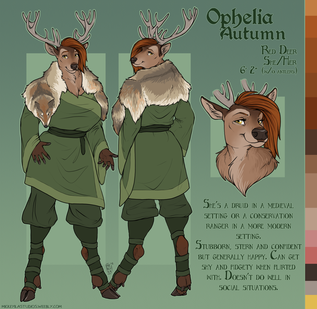Ophelia Ref Sheet - Clothed