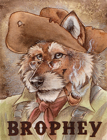 Brophey Watercolor/Colored Pencil Badge
