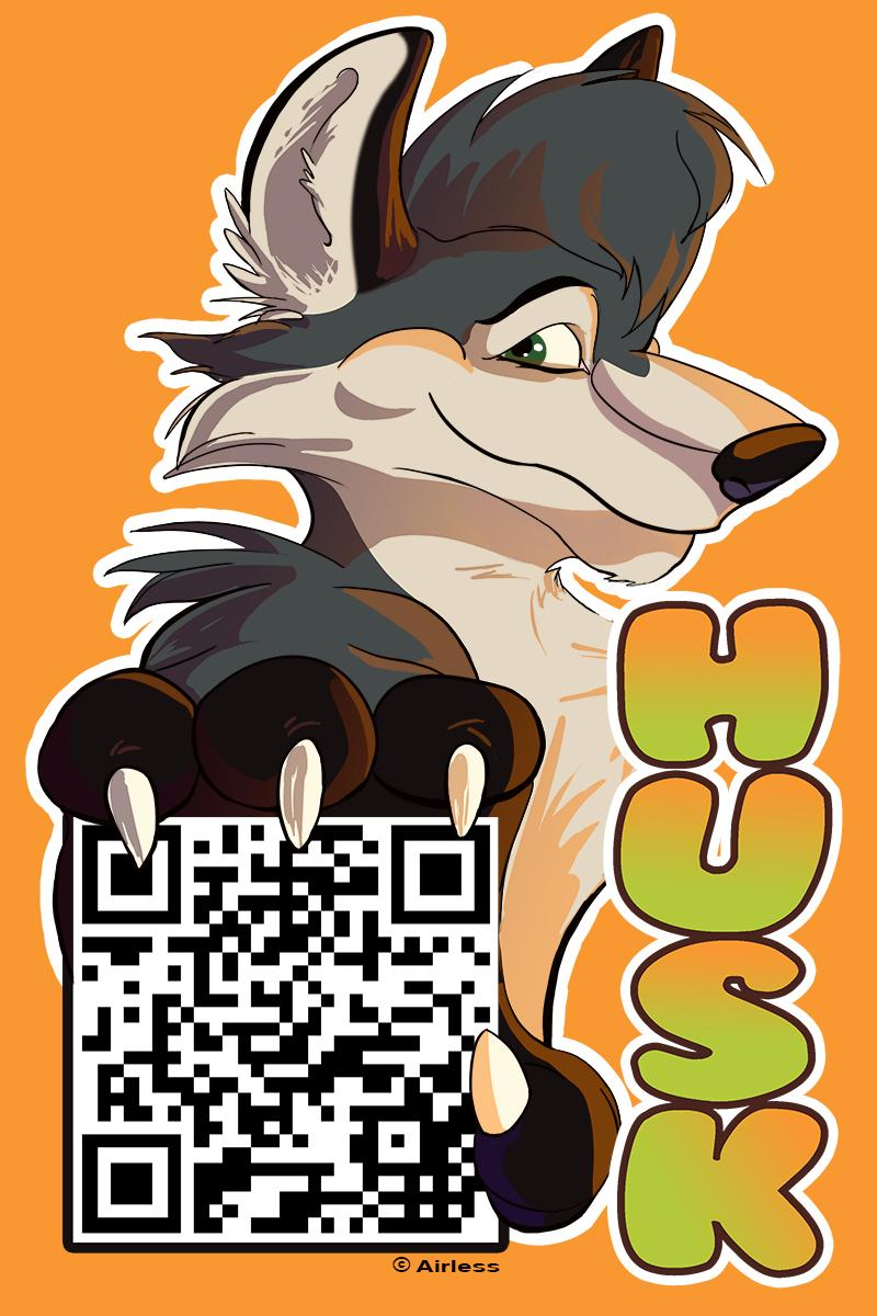 QR Badge: Husk Husky