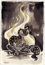 Inktober 7 - Salamander