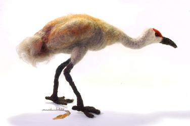 Needlefelted Sandhill Crane
